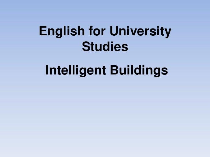 EUS Intellgent Buildings