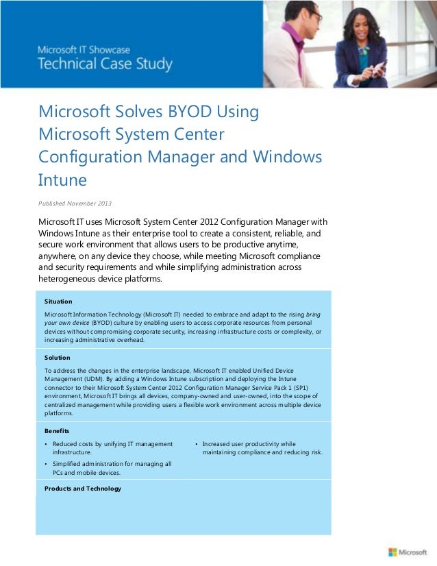 Microsoft Solves BYOD Using Microsoft System Center Configuration Manager and Windows Intune