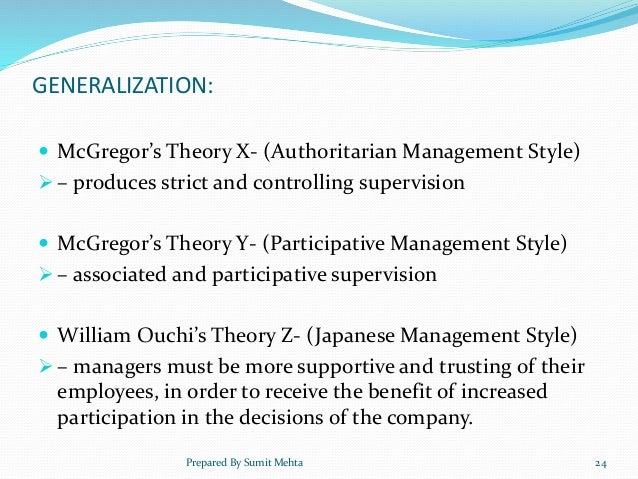 theory x y and z Mcgregor's theory x and theory y the idea that a manager's attitude has an impact on employee motivation was originally proposed by douglas mcgregor, a.
