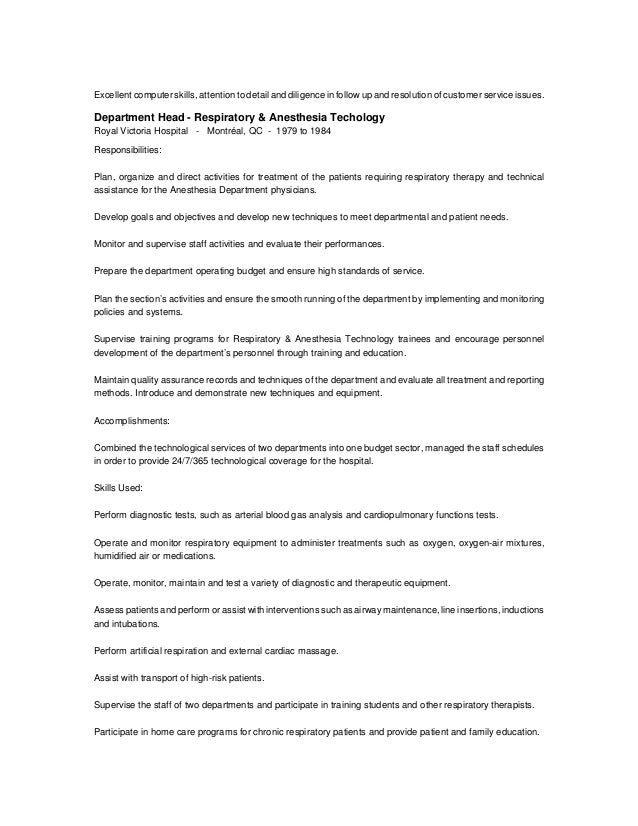 Meticulous attention to detail resume