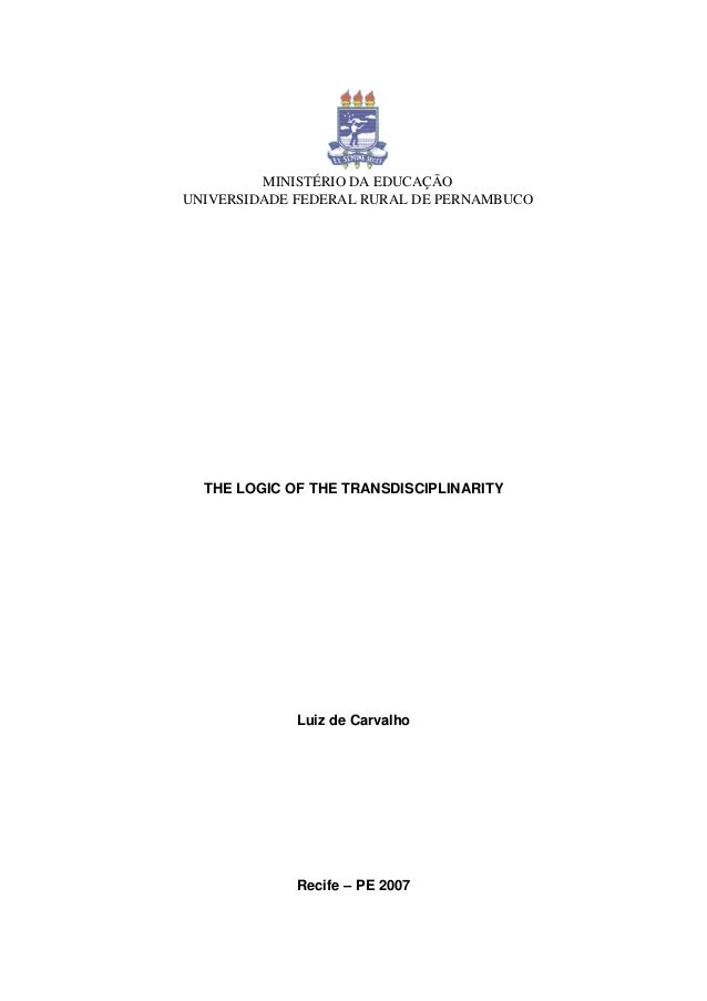 29364360 the-logic-of-transdisciplinarity-2