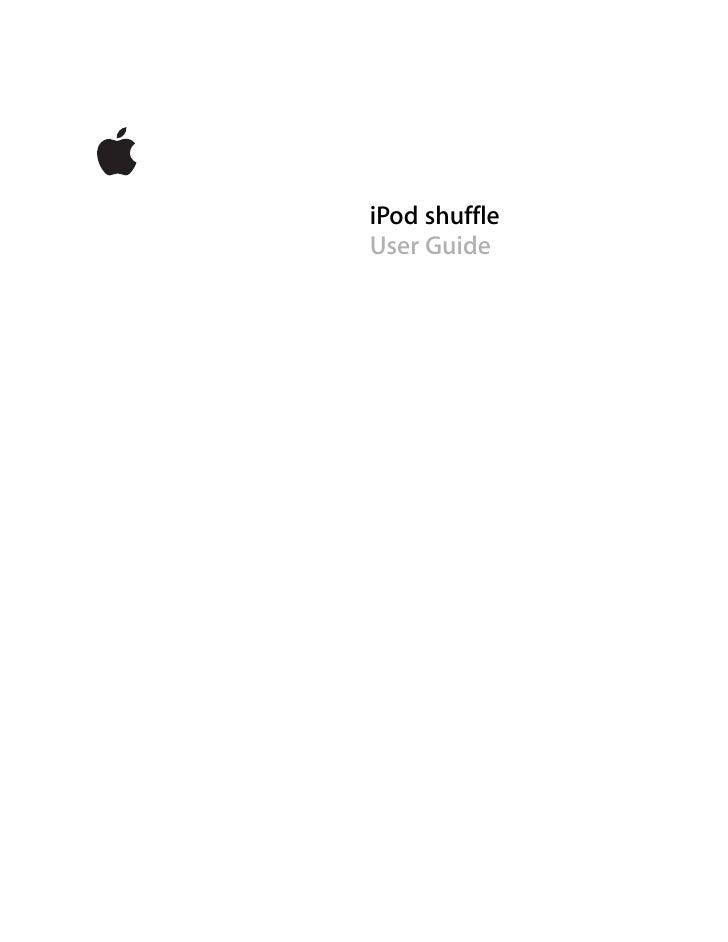 iPod Shuffle 3rd Gen - User Guide