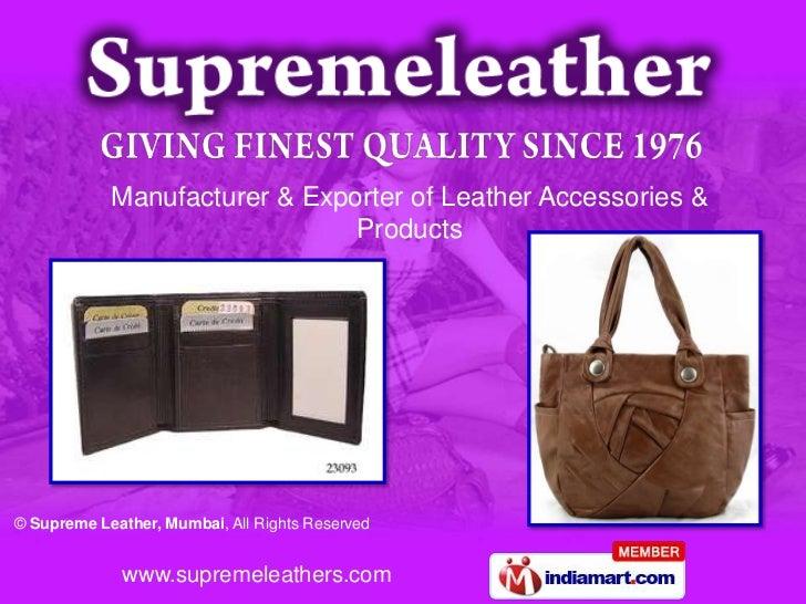 Supreme Leather Maharashtra India