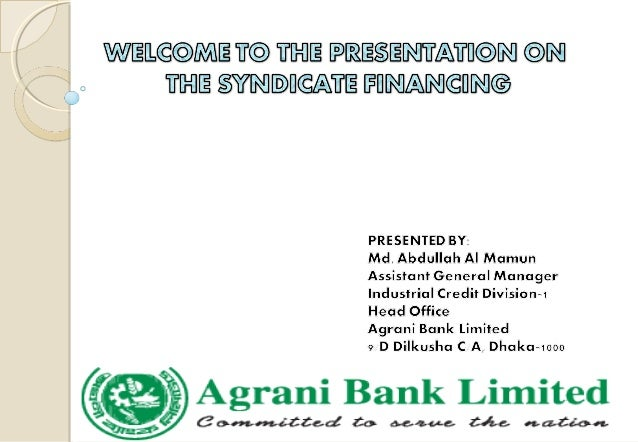 Syndicated Loan as Practiced by Commercial Banks - Assignment Point