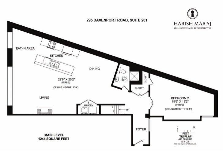 Suite 201 295 Davenport Road, Toronto Floorplan