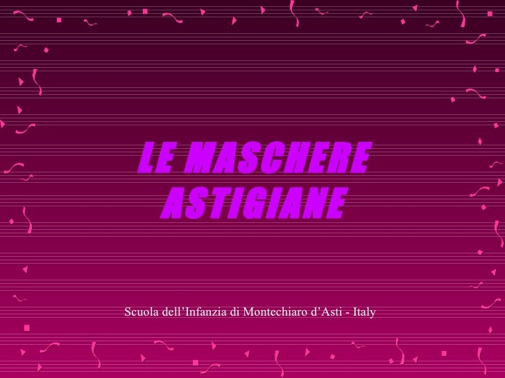 Toutes les masque des faubourgs de Asti - Italy