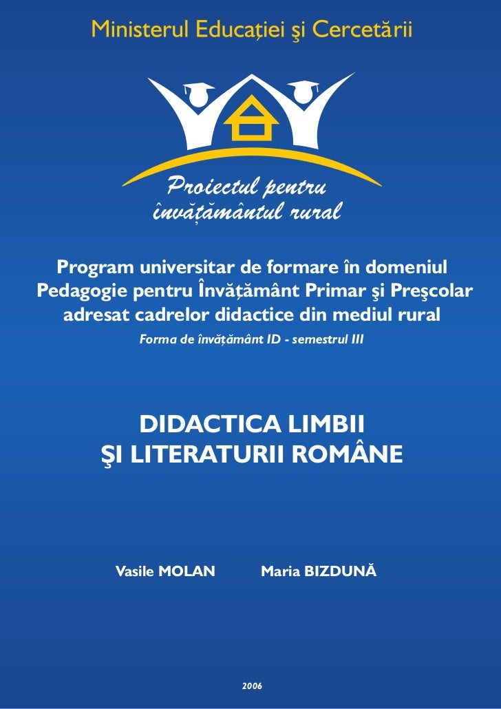 Program universitar de formare în domeniulPedagogie pentru Învăţământ Primar şi Preşcolar   adresat cadrelor didactice din...