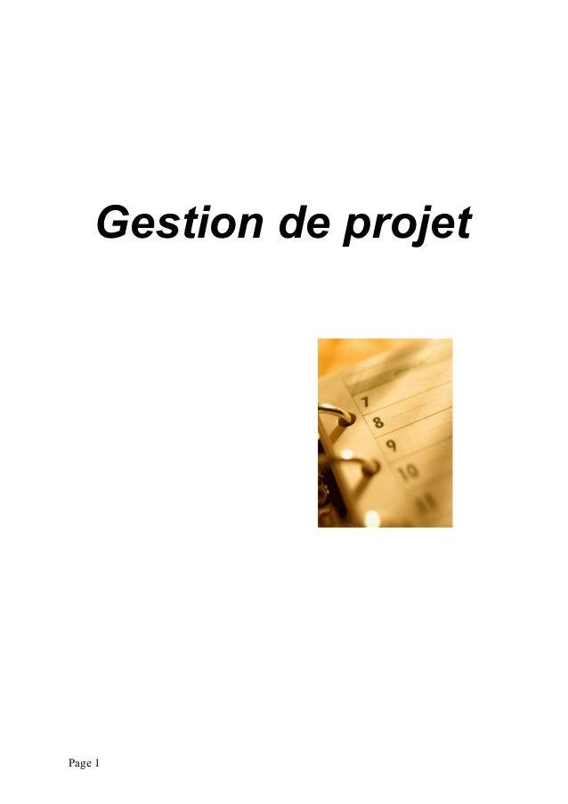 Gestion de projet Page 1