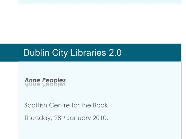 Dublin City Public Libraries 2.0
