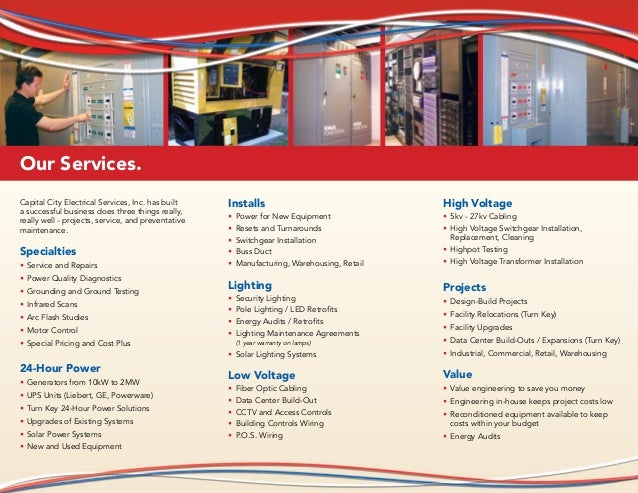 Capital City Electrical Services Inc Trifold E Brochure