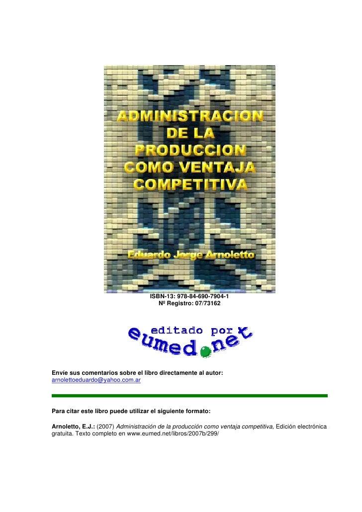 ISBN-13: 978-84-690-7904-1                                       Nº Registro: 07/73162Envíe sus comentarios sobre el libro...