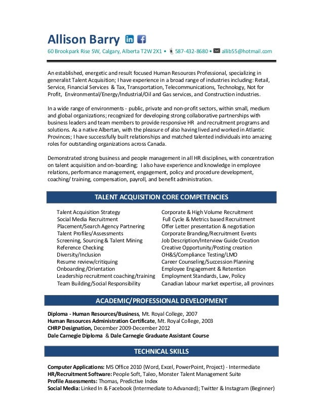 Diversity recruiter sample resume