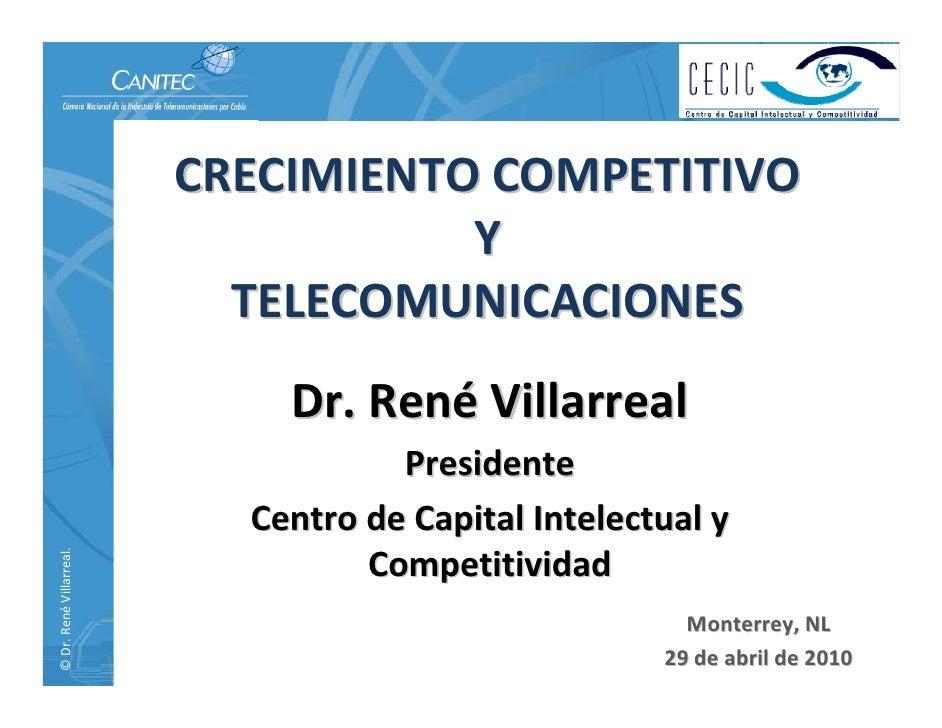 Expo Canitec 2010, Crecimiento competitivo y telecomunicaciones