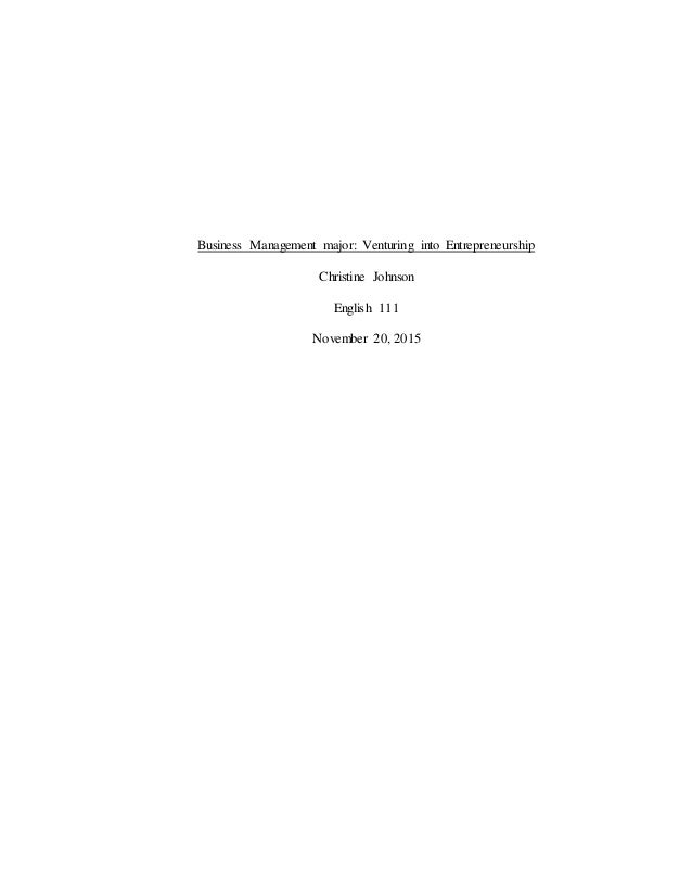Business management research papers