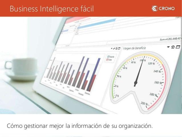 Business Intelligence fácil Cómo gestionar mejor la información de su organización.