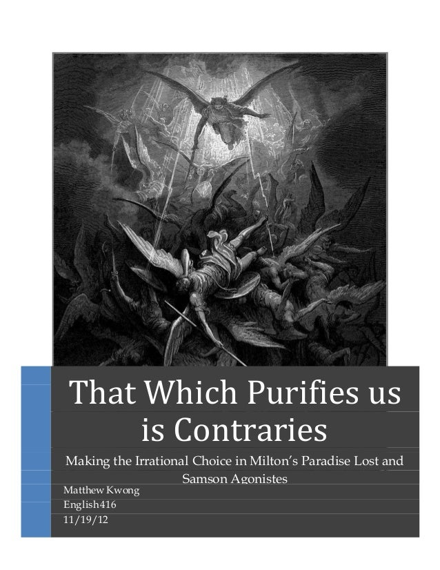 an analysis of the use of epic characteristics in john miltons paradise lost Satan in paradise lost:  but not an epic hero if we go deep in paradise lost we find that without  together by professor john lye for the use of.
