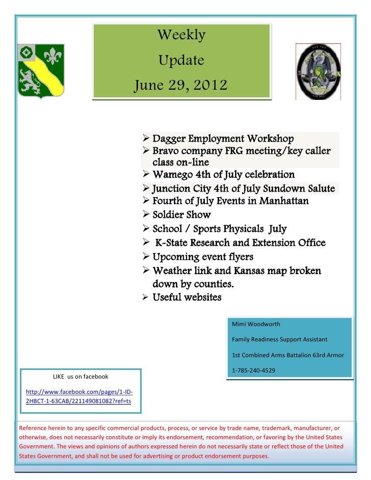 29 June newsletter