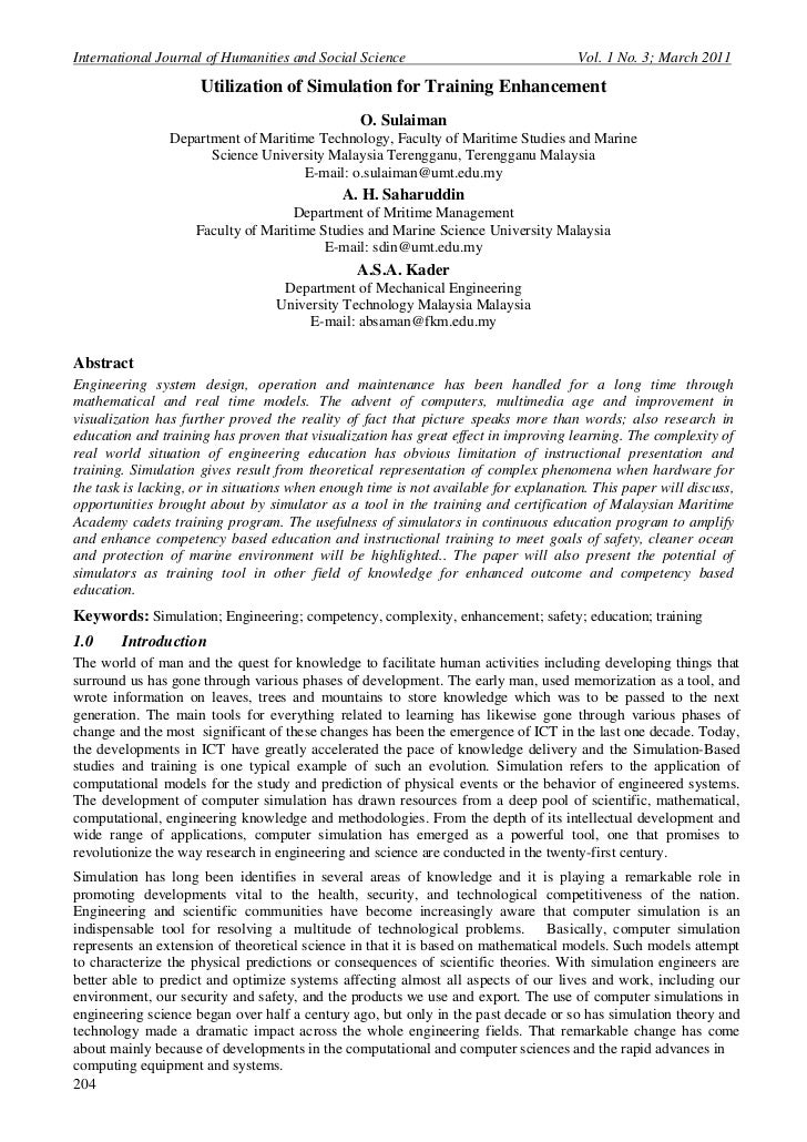 International Journal of Humanities and Social Science                                Vol. 1 No. 3; March 2011            ...