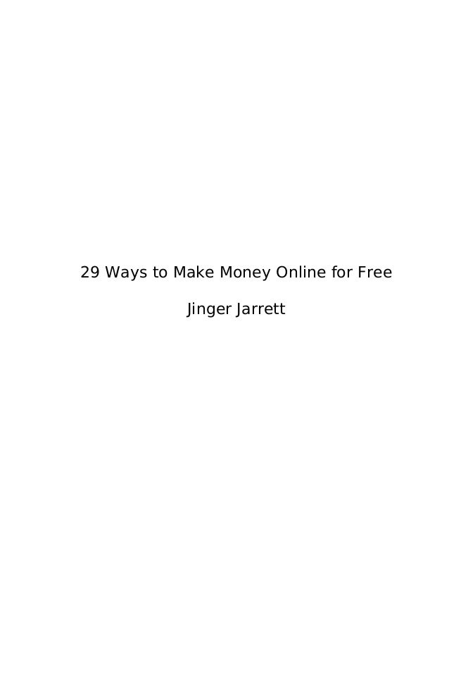 29 ways to make money online for free ebook