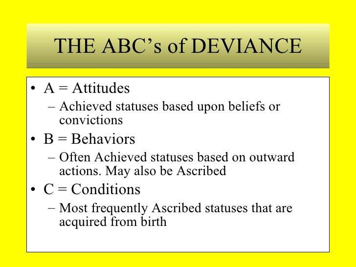 Deviance Essays
