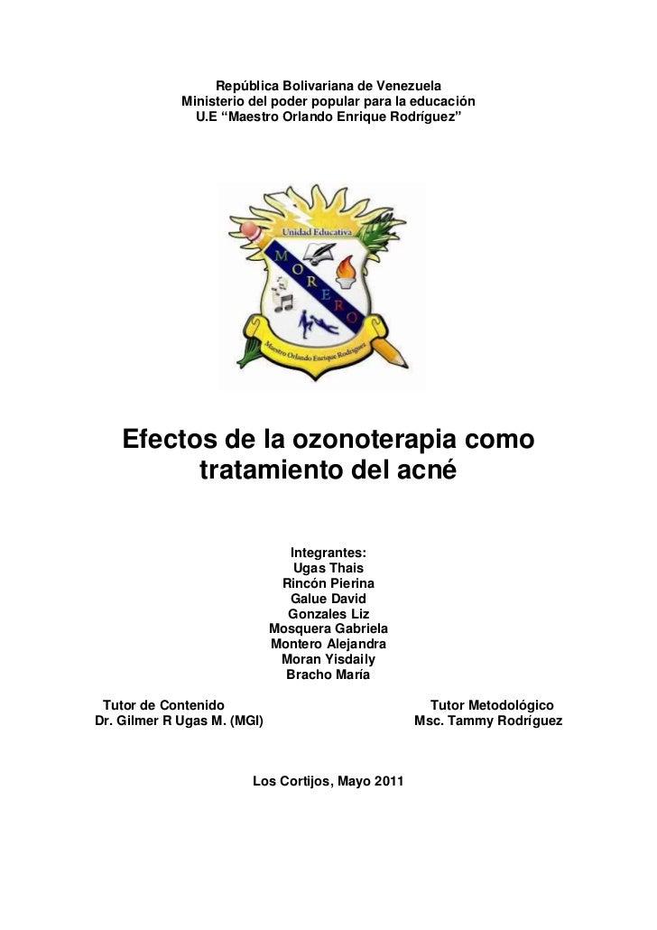 """República Bolivariana de Venezuela<br />Ministerio del poder popular para la educación<br />U.E """"Maestro Orlando Enrique R..."""
