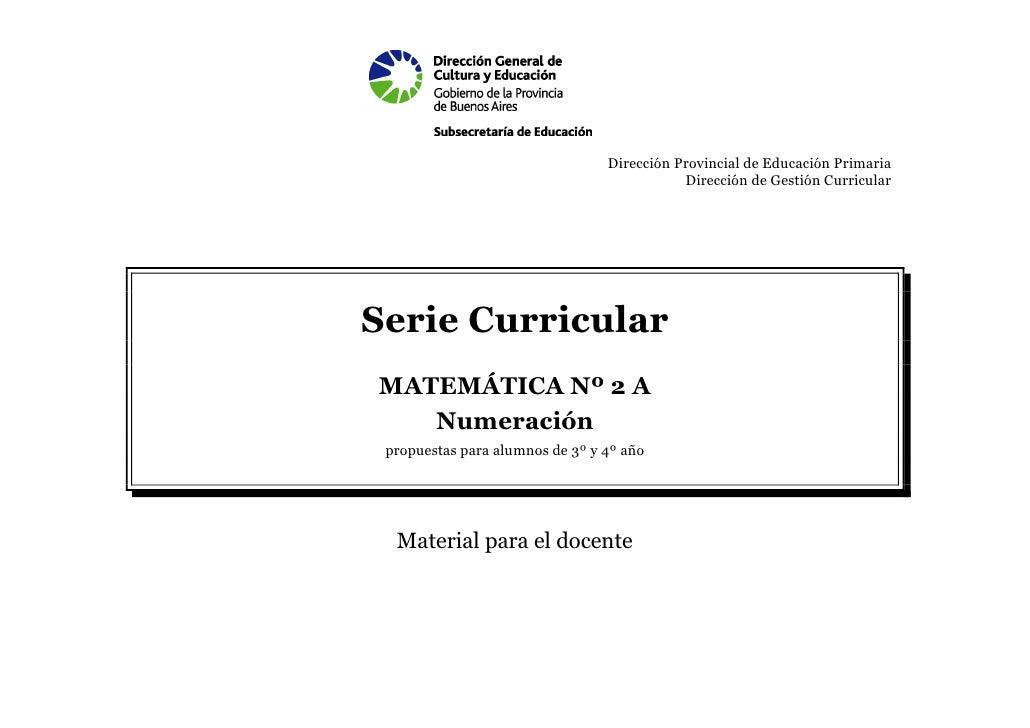 Dirección Provincial de Educación Primaria                                            Dirección de Gestión CurricularSerie...