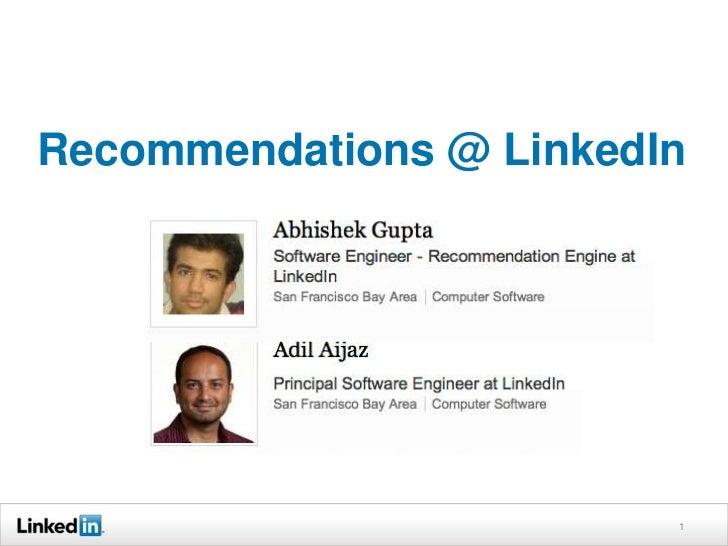 Hadoop World 2011: LeveragIng Hadoop to Transform Raw Data to Rich Features at LinkedIn - Abhishek Gupta & Adil Aijaz, LinkedIn