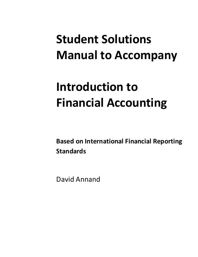 Introduction to Financial Accounting Solutions