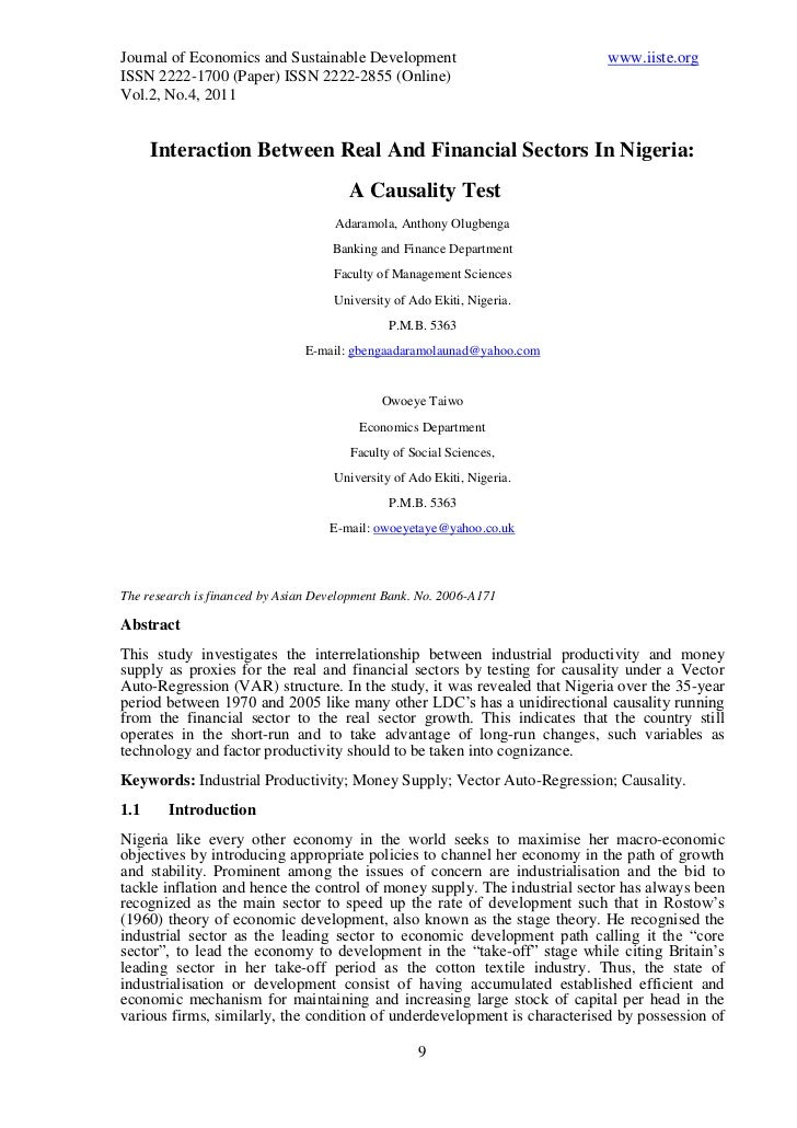 Journal of Economics and Sustainable Development                          www.iiste.orgISSN 2222-1700 (Paper) ISSN 2222-28...