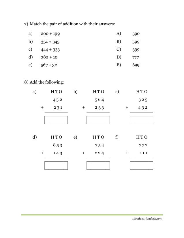 math worksheet : grade 7 addition and subtraction worksheets  3 digit subtraction  : Adding And Subtracting Integer Worksheet