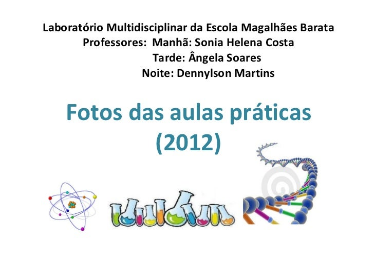 Laboratório Multidisciplinar da Escola Magalhães Barata       Professores: Manhã: Sonia Helena Costa                     T...