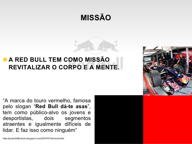 red bulls marketing mix Red bull is a publishing empire that also happens to sell a beverage a glimpse at the brand's expansive market, made possible by strategic content marketing.