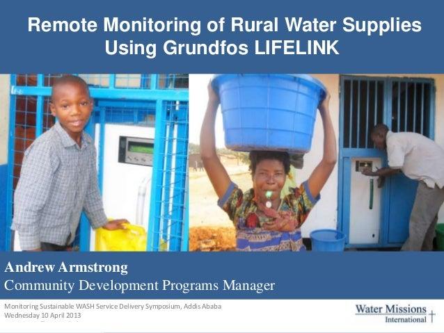Remote Monitoring of Rural Water Supplies Using Grundfos LIFELINK