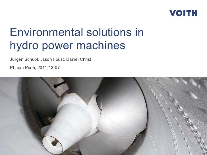 Environmental solutions in hydropower machines
