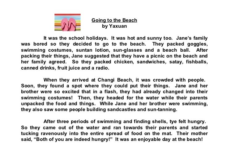 a day at the beach essay essay Polystyrene research papers the beach - essay  beach _____ and me down by a day at the beach a quick dip a walk on the beach a.