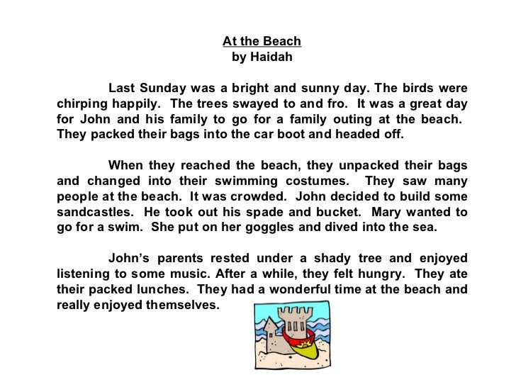 Descriptive essay of a beach