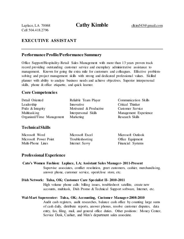 Cathy Kimble resume Laplace