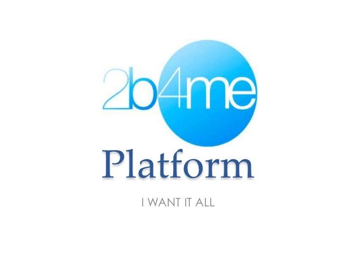 2b4me.com Sales Deck