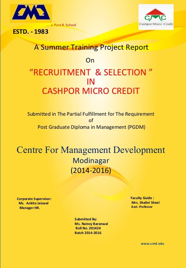 summer trainning project report Anna university :: chennai 600 025 format for preparation of project report for be / b tech / b arch 1 arrangement of contents.