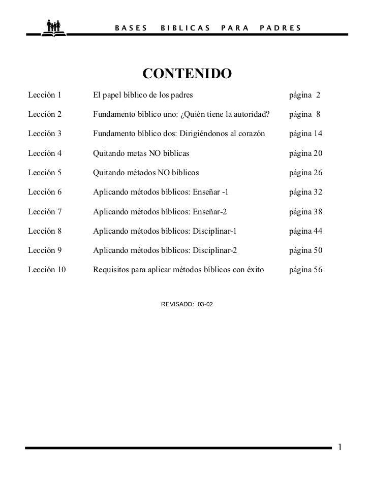 BASES         BIBLICAS          PARA      PADRES                           CO TE IDOLección 1    El papel bíblico de los p...