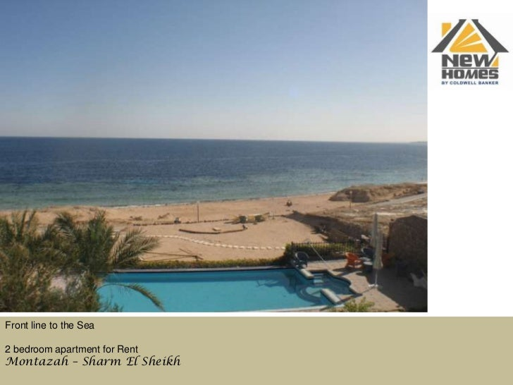 Front line to the Sea<br />2 bedroom apartment for Rent      <br />Montazah – Sharm El Sheikh<br />