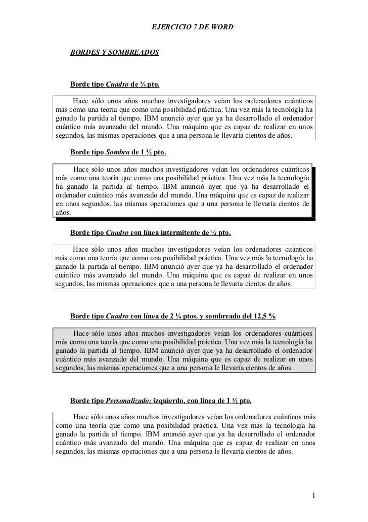 2.- BORDES Y SOMBREADO