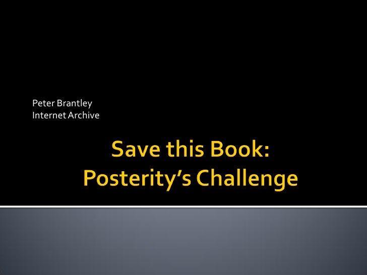 Peter BrantleyInternet Archive