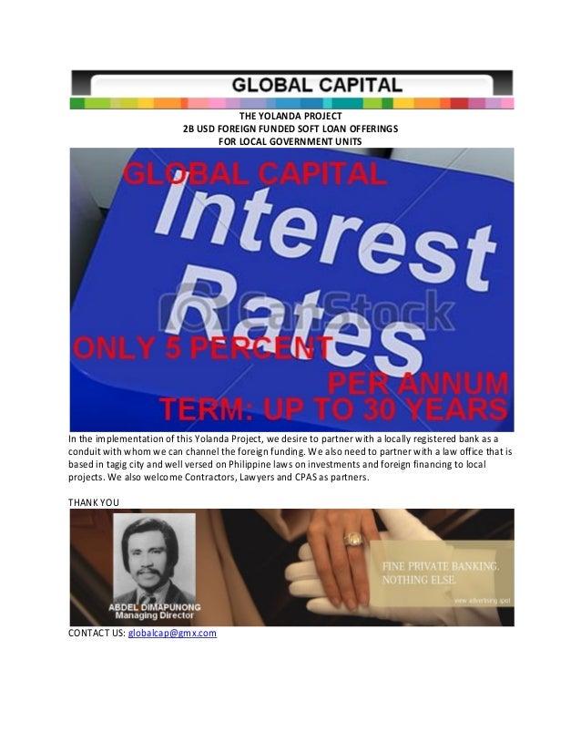 2 b usd soft loan offerings