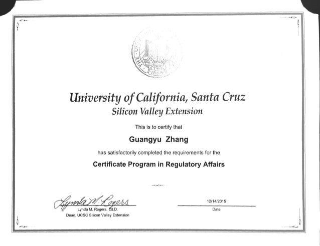 certificate regulatory affairs slideshare upcoming