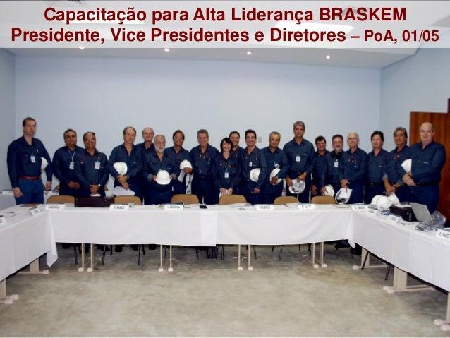 1 Capacitação para Alta Liderança BRASKEM Presidente, Vice Presidentes e Diretores – PoA, 01/05