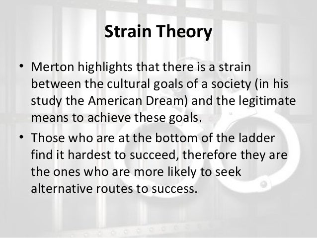 strain theory essay Better essays: strain theory - robert agnew is known for his general strain theory the theory explains that the basis of people getting involved in criminal activity is because.