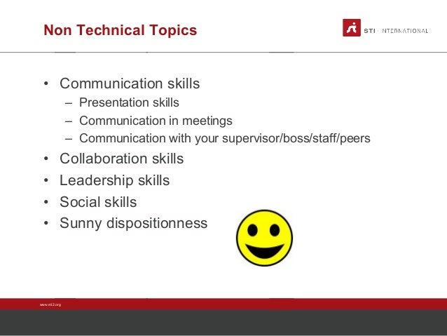 non technical topics