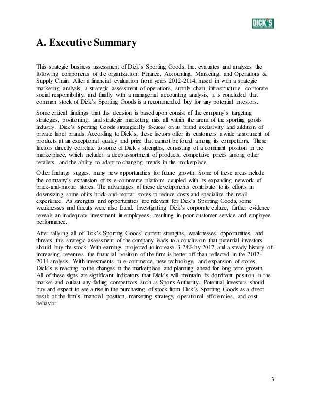 Sba executive summary