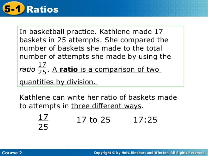In basketball practice. Kathlene made 17  baskets in 25 attempts. She compared the number of baskets she made to the total...